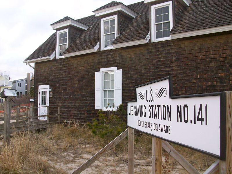 The rebuilt station exterior.