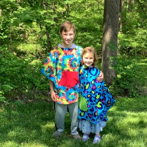 Children's Fleece Poncho Capes