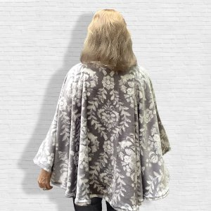 Women's Fleece Poncho Cape