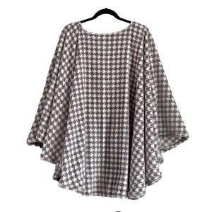 Women's Minky Fleece Poncho Cape
