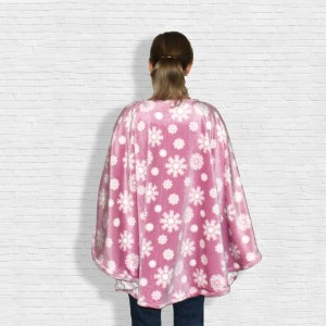 Warm Minky Fleece Poncho Cape