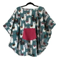 Hospital Gift Child's Fleece Poncho Cape Lamas