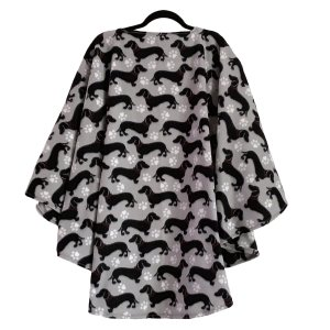 Adult Hospital Gift Fleece Poncho Cape Ivy Dachshund Wiener Dogs