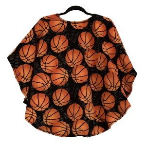 Child Hospital Gift Cape Ivy basketball fleece poncho cape