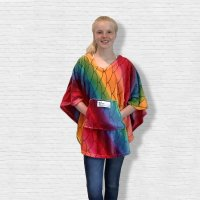 Child Hospital Gift Fleece Poncho Cape Ivy Bright Mermaid