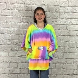 child hospital gift fleece poncho Cape Ivy rainbow