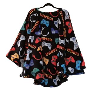 Adult Teen Hospital Gift Fleece Poncho Cape Ivy Gamer