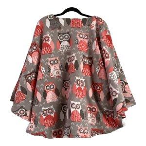 Teen Hospital Gift Fleece Poncho Cape Ivy Owl