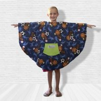 Boy Hospital Gift Fleece Poncho Cape Ivy All Sports