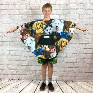 Child Hospital Gift Fleece Poncho Cape Ivy Dog Presents