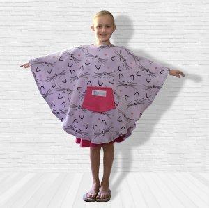 Child Hospital Gift Fleece Poncho Cape Ivy Kitty Love