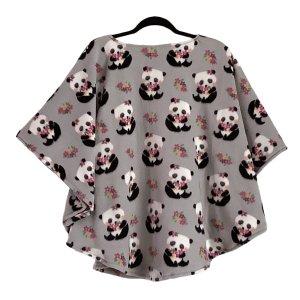 Child Hospital Gift Fleece Poncho Cape Ivy Pandas