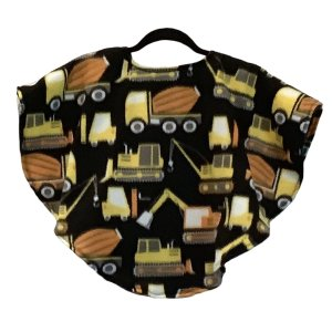 Toddler Hospital Gift Fleece Poncho Cape Ivy Construction Vehicles
