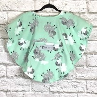 Toddler Hospital Gift Fleece Poncho Cape Ivy Lambs