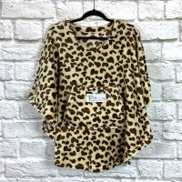 Child Hospital Gift Fleece Poncho Brown Leopard