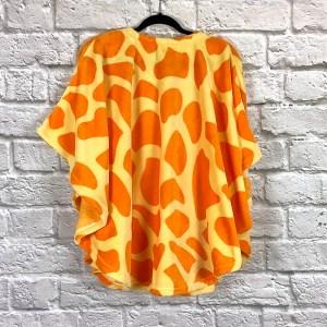 Child Hospital Gift Fleece Poncho Cape Ivy Yellow Giraffe