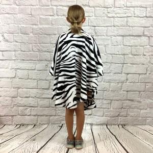 Child Hospital Gift Fleece Poncho Cape Ivy Zebra