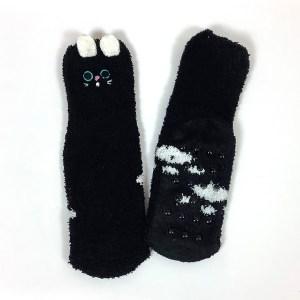 Child Small Adult non-slip gripper socks Cape Ivy Black Cats