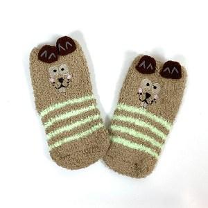Toddler Fluffy non-slip gripper socks Cape Ivy Squirrels