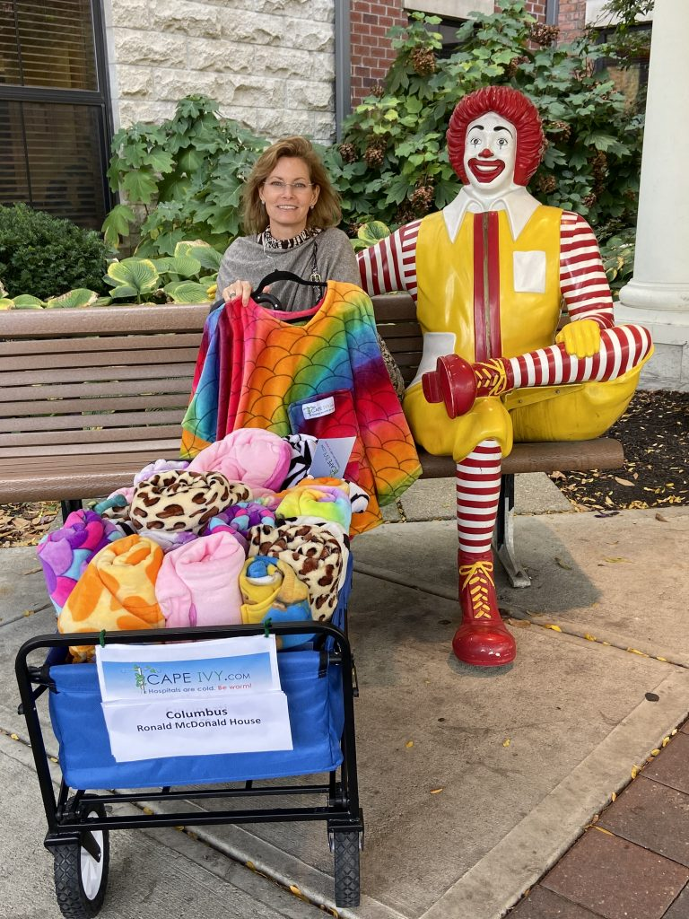 Cape Ivy visit Ronald McDonald House Columbus