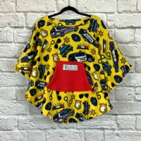 Chlld Hospital Gift Fleece Poncho Cape Ivy Police in Yellow