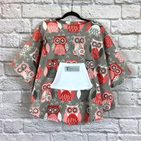 Child Hospital Gift Fleece Poncho Cape Ivy Wise Owl