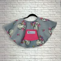 Toddler Hospital Gift Fleece Poncho Cape Ivy Hedgehogs Posies