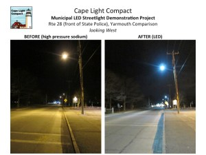 Yarmouth Rte 28 West Before-After LEDs