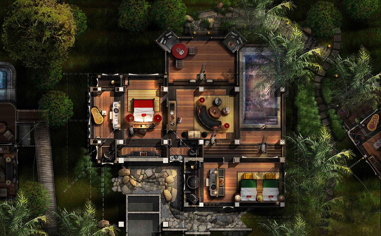 Rainforest Retreat  Accommodation  Capella Ubud Bali