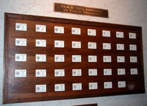 Memorial plaque for the 38 airmen who lost their lives training at USNASW