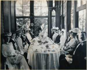An old photo of the dining room