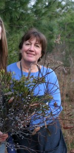 Lorraine with bayberry plant.