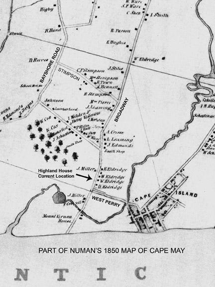 1850 Numan Map Eldredge copy   CapeMay.com Blog on