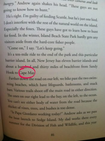 How cool is it to see my summer spot in my book.