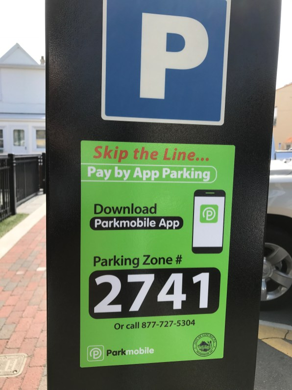 Look for this sticker to find your parking zone #