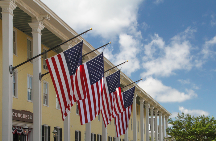 Flags at Congress Hall