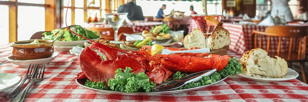 Lobster meal at the Lobster House