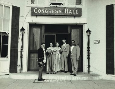 Guests attending a ball in 1959.