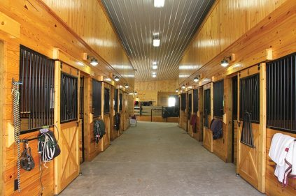 The stables at Green Acres Farm