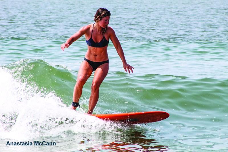 Anastasia McCann surfing Cape May