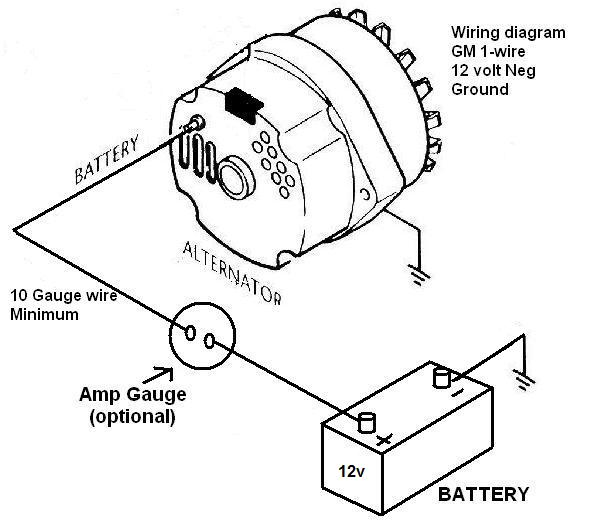 1 Wire One Wire Alternator Wiring Diagram Chevy Database