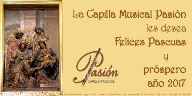 felitación navidad capilla musical pasion 2016