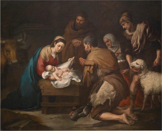 Murillo. Adoración de los pastores (pintura)