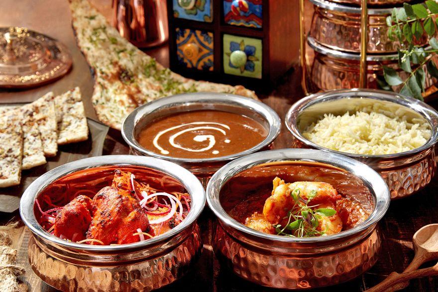 Tiffin Room's multi-layered spread, Food & Drink