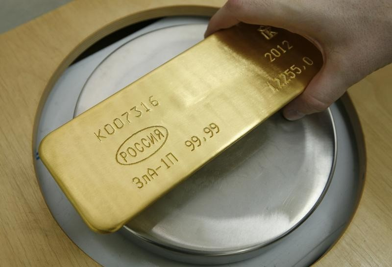 Gold Down, Investors Weigh Upbeat U.S. Data Against Lower Treasury Yields By Investing.com