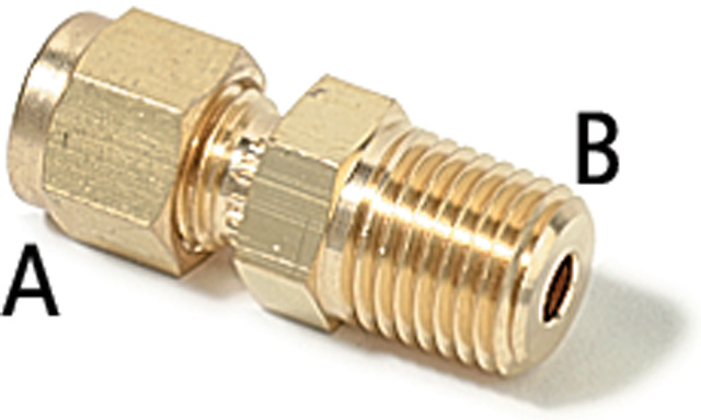 2 Male Connector Inch 1 Female Swagelok