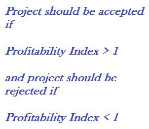 Profitability Index Decision Rule