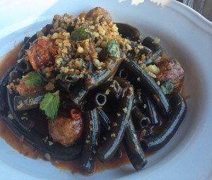 Supply & Demand squid ink pasta