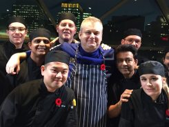 Chef John Morris & Team le cafe @ NAC