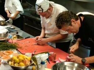 Chef Matt Carmichael and sous chef Jonathan Korecki at the Black Box
